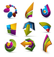 Geometric abstract shapes Collection of arrows vector image vector image