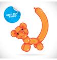 Glossy Balloon Tiger vector image vector image