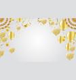 golden celebration background group of gold vector image