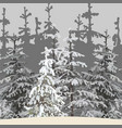 gray background of the winter forest vector image