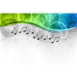 Green and blue melody background vector | Price: 1 Credit (USD $1)