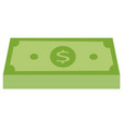 green stack of money icon money icon in flat vector image vector image