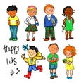 Happy Kids - part 3 Hand drawn clip-art vector image