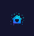 home with heart vector image