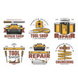 house repair and construction tools vector image vector image