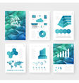infographics brochure blue polygon vector image vector image