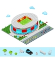 Isometric Football Soccer Stadium Building vector image