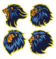 lion sport logo mascot set collection pack vector image