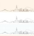 mecca hand drawn skyline vector image vector image