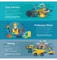Mining Horizontal Banner Set vector image vector image