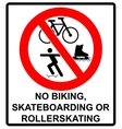 No roller blade scooter roller skater or vector image