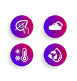 organic tested cloudy weather and weather vector image vector image