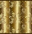 ornate gold 3d damask seamless pattern ornamental vector image vector image