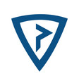 p modern business letter logo design vector image vector image