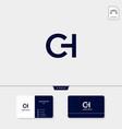 premium initial ch hc c or h creative logo vector image vector image