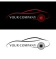 Red and black car logos vector image vector image