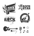 Rock music shop recording studio karaoke club vector image vector image