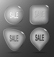 Sale Glass buttons vector image vector image
