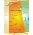 Saskatchewan province map vector image vector image