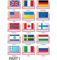 Several dictionaries with flags vector image vector image