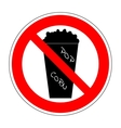 Sign no popcorn 1604 vector image vector image