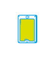 smartphone technology object to call and talk vector image vector image