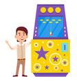space war video-game game machine gamble vector image