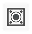 speaker icon black vector image