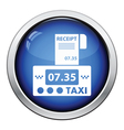 Taxi meter with receipt icon vector image vector image