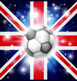 uk soccer flag vector image