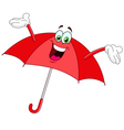 umbrella cartoon vector image vector image