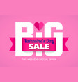 valentines day big sale weekend special offer vector image
