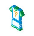 volleyball uniform isometric icon vector image vector image