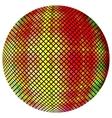 Yellow-orange mosaic ball vector image vector image