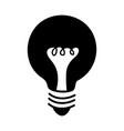 black icon bulb cartoon vector image