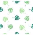 monstera tropic plant simple leaves seamless vector image