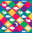 seamless pattern of weather icons paper vector image