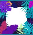 hawaiian design with tropical plants vector image