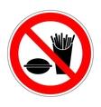 Sign no eat 1704 vector image