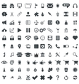 100 universal pictograms for web and mobile apps vector image