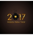 2017 Happy New Year Gold Glossy Background vector image