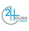 24 hour logo service vector image