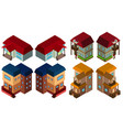 3d design for different styles of houses vector image vector image