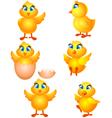 little group chicken cartoon