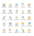 a pack of bitcoin and cryptocurrency flat icons vector image vector image