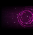 abstract purple circle digital technology vector image vector image