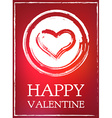 All Lovers Day Valentine card heart pink romantic vector image vector image