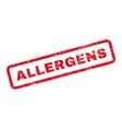 allergens text rubber stamp