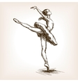 Ballet dancer girl sketch vector image