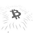 bitcoin blockchain symbols vector image